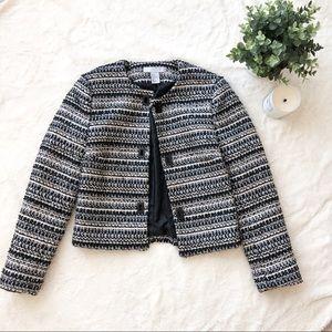 H&M Black and White Tweed Jacket